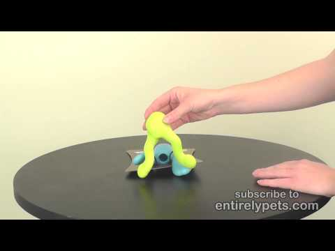 West Paw Tizzi Tough Dog Chew Toy - Blue (Small) Video