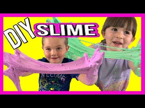 MIXING Our Own SLIMES! DIY Slime for KIDS!