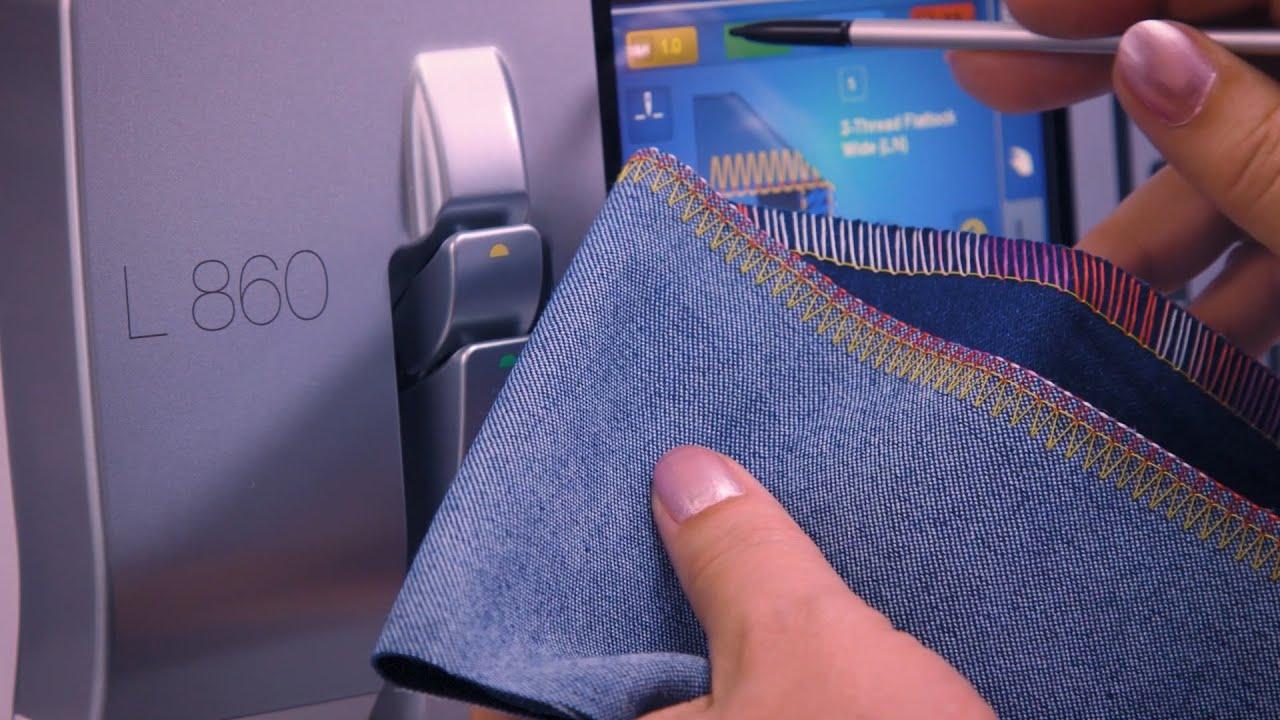 L 860 Overlocker: How to Optimize Overlock Stitches