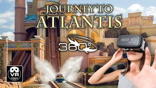 360° Journey to Atlantis Water Roller Coaster | VR POV | SeaWorld Achterbahn Montaña Rusa #360video