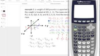 Honors PreCalc: 10.3 Tension in space and Cross product and vectors