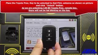 Unlocking Applicaton for Toyota Prox  128 Bit Remote Key