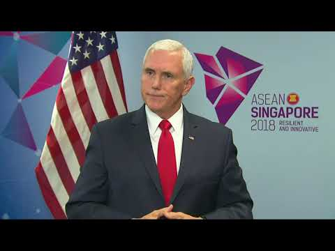 "The U.S. and China offered rival visions for the Asia-Pacific at a summit Thursday. Vice President Mike Pence saying there was no room for ""empire or aggression"" in the region. (Nov. 15)"