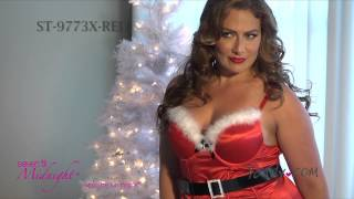 Plus Size Naughty N' Nice Christmas Dress ST 9773X RED FH2013