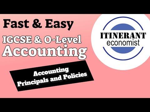 IGCSE/O-Level Accounting - Chapter 1 Accounting principles and policies