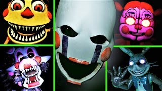 FNAF VR: Help Wanted's Scariest Moments and here's why... (Top Scary Five Nights at Freddy's)