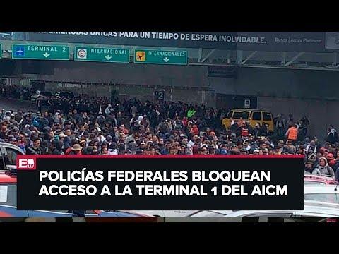 Se enfrenta PF con policías de SSC en inmediaciones del AICM