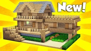 Minecraft: Wooden Survival House Tutorial - How To Build A House In Minecraft / Easy /