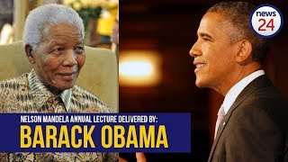 Former US president Barack Obama is scheduled to deliver the annual Nelson Mandela lecture at the Wanderers Stadium in Johannesburg where a crowd of about 9 000 people is expected.