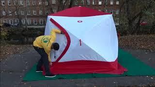 Палатка зимняя для рыбалки куб 4 местная трехслойная