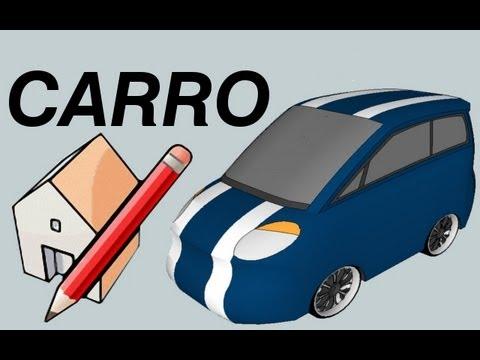 Sketchup car tutorial part 1 3 blueprints como fazer um carro sketchup 8 car malvernweather Choice Image