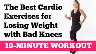 The Best Cardio Exercises for Losing Weight with Bad Knees: Full 10-Minute Home Workout by jessicasmithtv