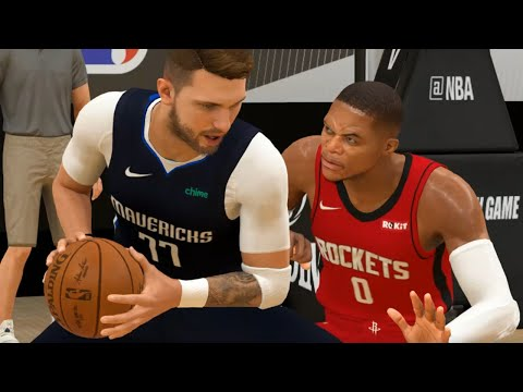 NBA Live 7/31 – Rockets vs Mavericks Full Game Highlights | Houston vs Dallas (NBA 2K)