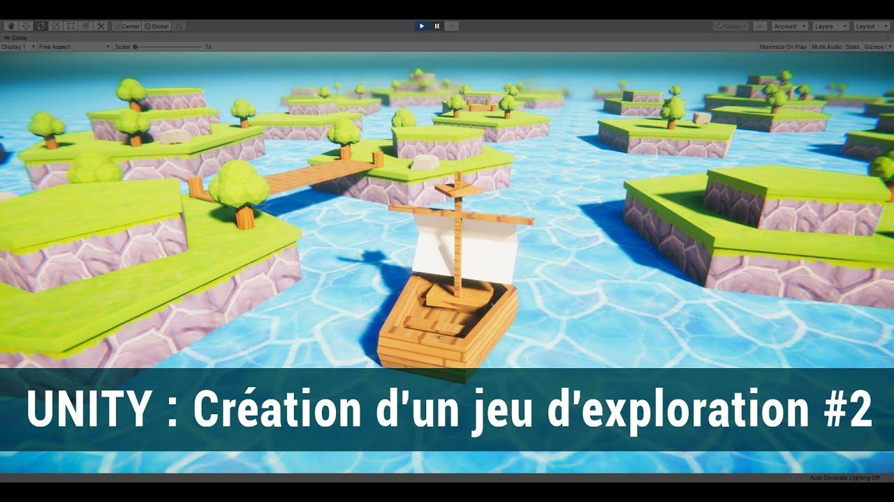 #2 Unity : Création d'un jeu 3D : Modélisation du décor sous Blender