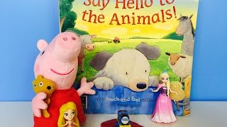 Story Time!  Say Hello to the Animals! Touch and Feel Book
