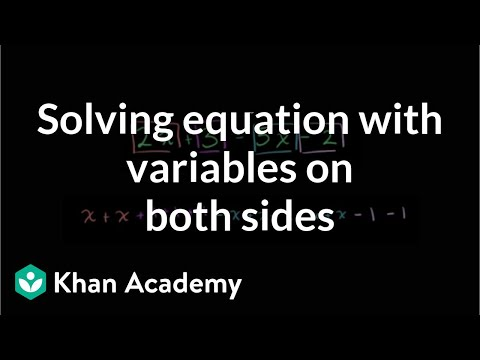 A thumbnail for: Solving equations