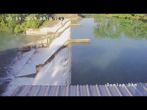 Spillway Gate Fails At Lake Dunlap Dam