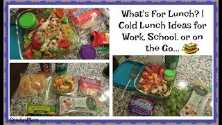 What's For Lunch? | Cold Lunch Ideas for work, school, or on the go