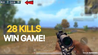 One Man Squad | PUBG Mobile | 28 KILLS WIN! | Full Gameplay