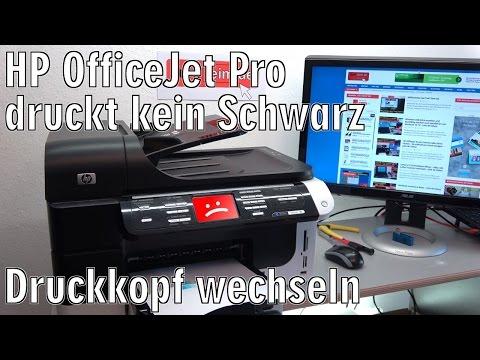 HP OfficeJet Pro druckt kein Schwarz nicht mehr | Druckkopfproblem - [4K Video]