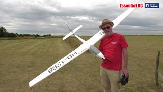 FMS ASW-17 POWERED AEROBATIC GLIDER | HIGH-G RACE DRONE CHASE: ESSENTIAL RC FLIGHT TEST