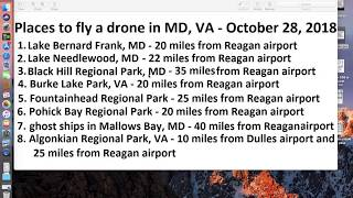 where to fly a drone with water in MD, VA? (Mavic Pro drone)?