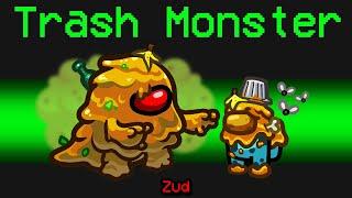 NEW Among Us TRASH MONSTER ROLE?! (Funny Mod)