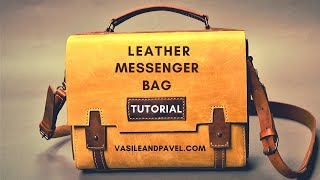 How To Make A Leather Messenger Bag-PDF Pattern