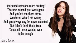 enough for you - Olivia Rodrigo (Lyrics)