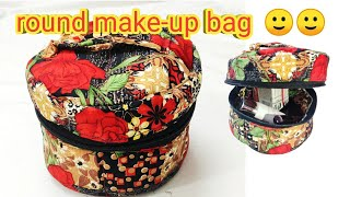 Cute Make-up Bag/zipper Pouch/round Makeup Box/zipper Bag/ Orgnizer/cosmetic Organizer/diy Handbag