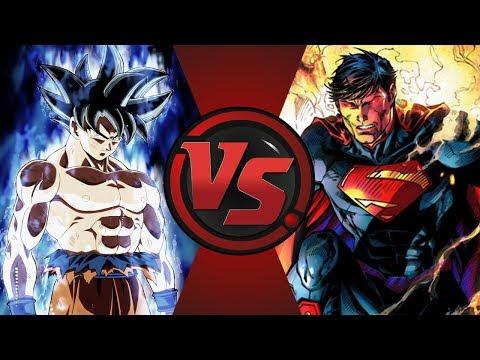 ULTRA INSTINCT GOKU vs SUPERMAN (Dragon Ball Super vs DC Comics) | UniVS