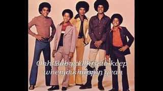Jackson 5 Sugar Daddy Lyrics on screen