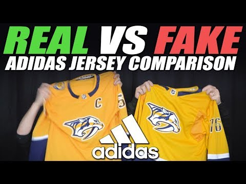 Real vs Fake NHL Adidas Jersey Comparison