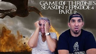 Game of Thrones Season 7 Episode 4 'The Spoils of War' Part 2 REACTION!!