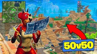 What Happens When 50v50 ENDS IN TILTED TOWERS! [Fortnite Battle Royale]