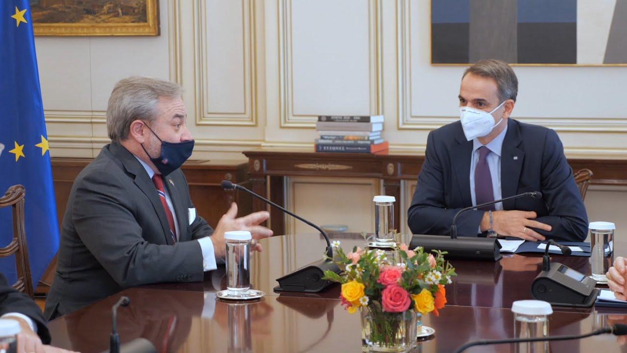 Η ενεργειακή συνεργασία Ελλάδας-ΗΠΑ και οι αμερικανικές επενδύσεις στη συνάντηση Μητσοτάκη-Μπρουλέτ