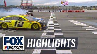 FINAL LAP: Ryan Blaney Repeats At Talladega, Wins By A Nose Amidst Crash | NASCAR ON FOX HIGHLIGHTS
