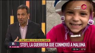 Stefi, la guerrera que conmovió a Maluma