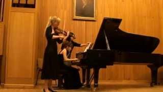 C.Saint-Saens (Ysaye,Eugene)- Etude in the Form of a Waltz Anna Orlik- violin