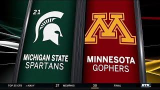 Michigan State at Minnesota - Football Highlights