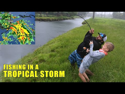 Bass Fishing in TROPICAL STORM Gordon | Monster Mike