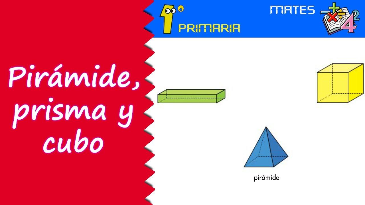 Matemáticas. 1º Primaria. Tema 7: Pirámide, prisma, cubo