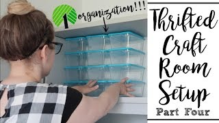 THRIFTED CRAFT ROOM | DOLLAR TREE ORGANIZATION | PT. 4