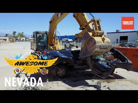 Drive Bulldozers At Las Vegas' Giant Sandbox  || U.S. of Awesome