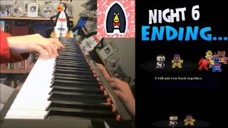 """Five Nights at Freddy's 4 - """"Night 6"""" ENDING Piano Song (Amosdoll Piano Cover)"""