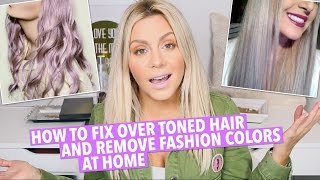 How To Fix Over Toned Hair At Home