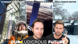 Starship SN3 Stacked, Model Y Radar Heater, Starlink gets Dimmer - Ep 77