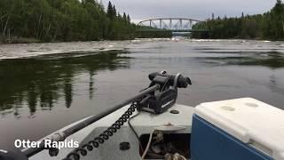 Whitewater jet boat ride, Churchill River, Saskatchewan