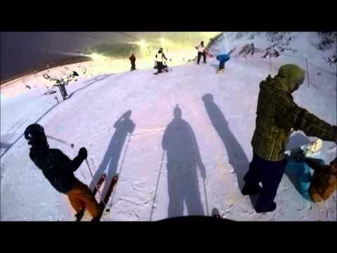 Видео: Видео горнолыжного курорта Лисья Гора в Московская область