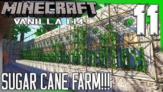 AUTOMATED SUGAR CANE FARM!!! | Minecraft Multiplayer Vanilla 1.14.4 Gameplay/Let's Play E11